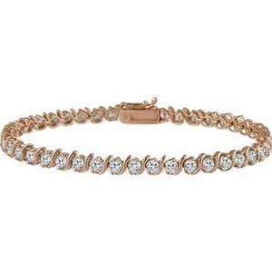 4.00 Carats round cut sparkling diamonds Bracelet
